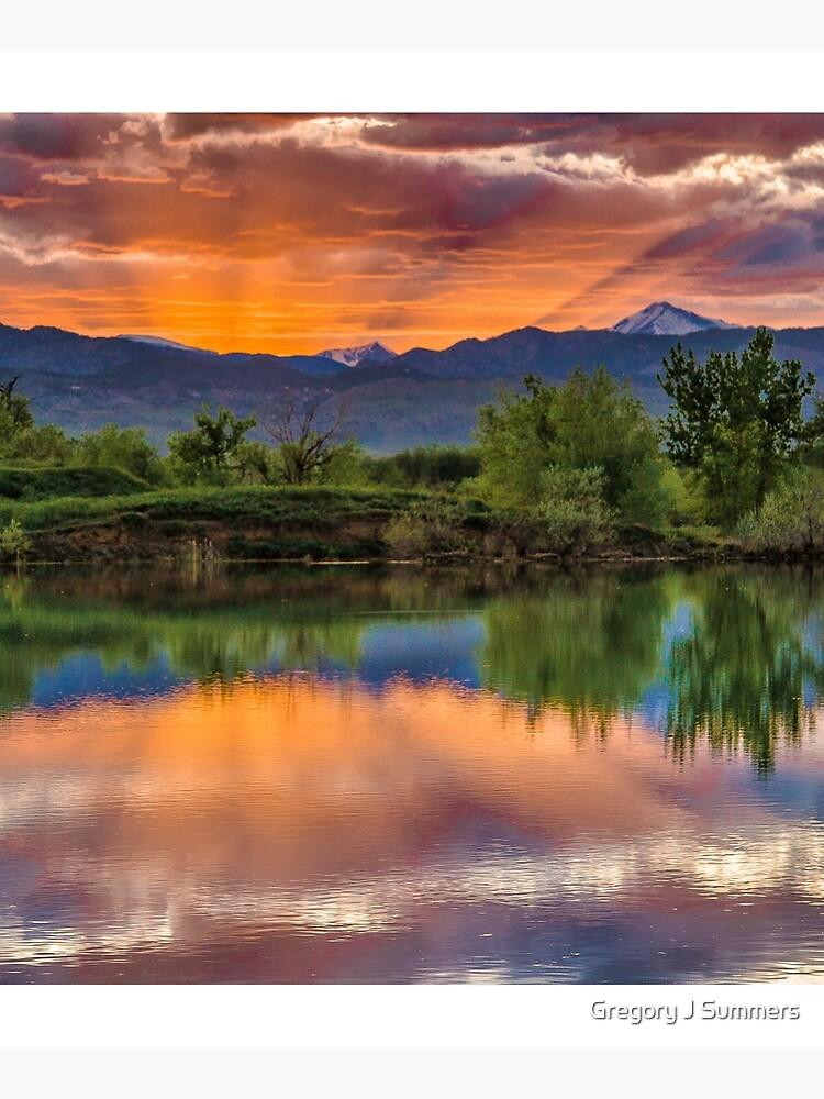 Sunset Sawhill Ponds Paintbrush by nikongreg