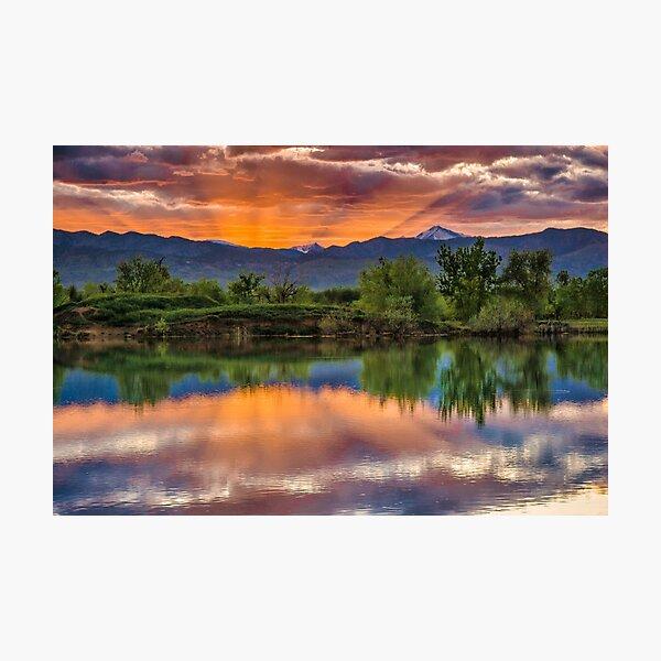 Sunset Sawhill Ponds Paintbrush Photographic Print