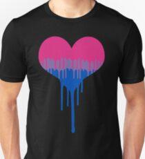Bisexuell Pride Drip Herz Slim Fit T-Shirt
