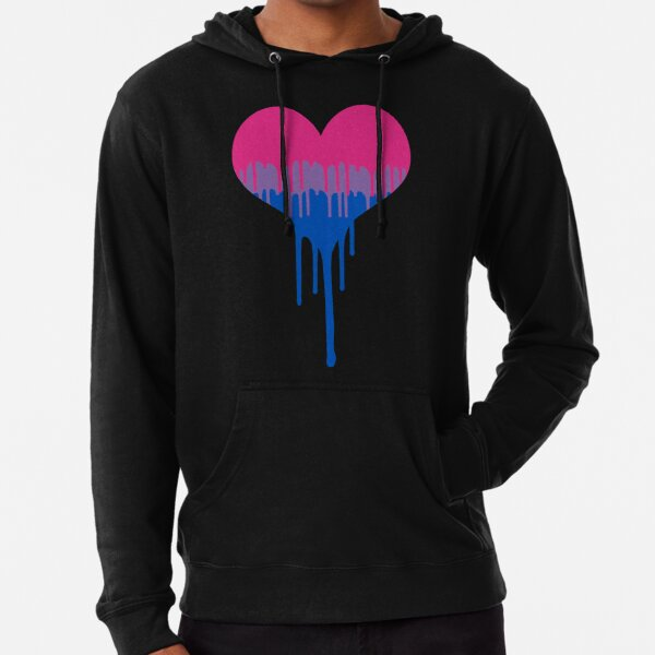 Bisexual Pride Drip  Heart  Lightweight Hoodie