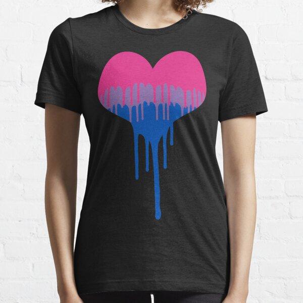 Bisexual Pride Drip  Heart  Essential T-Shirt