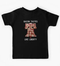 Bacon Tastes Like Liberty - Bell - United States of America Kids Tee