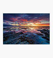 Kaikoura Dawn Blush Photographic Print