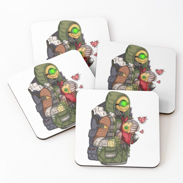 Borderlands Fl4k and Mr Chew Coasters (Set of 4)