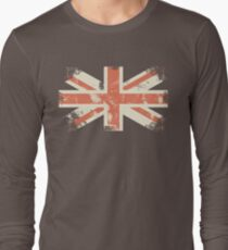 grungy UK flag Long Sleeve T-Shirt
