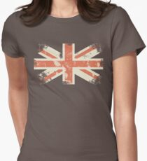 grungy UK flag Women's Fitted T-Shirt