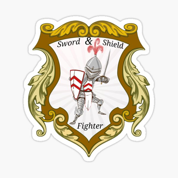 Sword and Shield Fighter Sticker