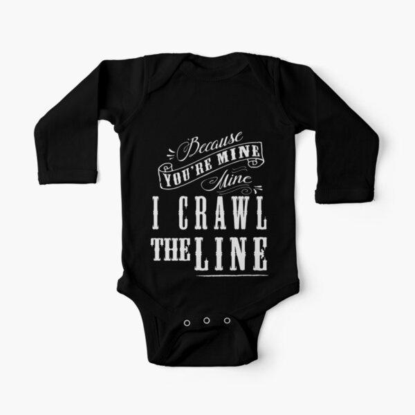 I Crawl The Line, Baby Onesie Long Sleeve Baby One-Piece