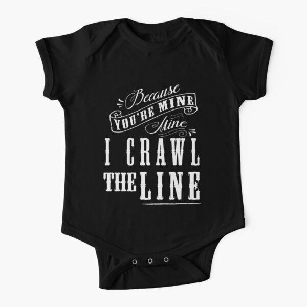 I Crawl The Line, Baby Onesie Short Sleeve Baby One-Piece