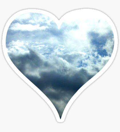 Blue Sky Heart Sticker