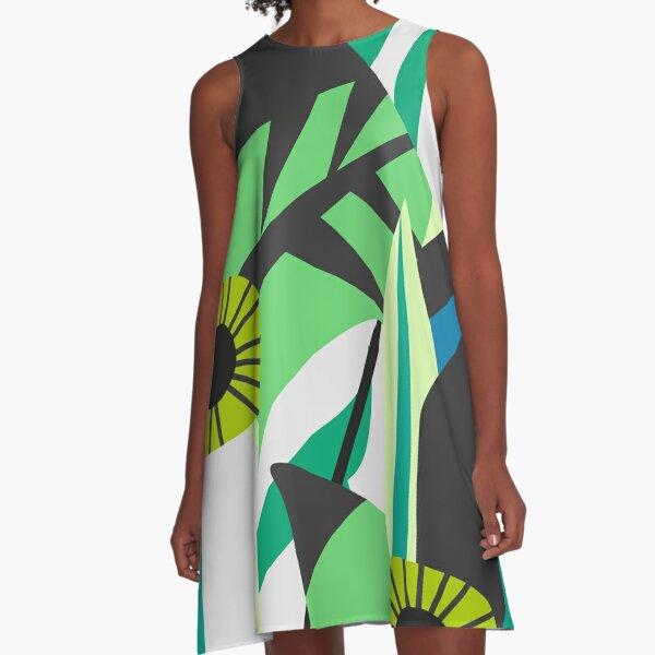 Fresh tropical decor A-Line Dress