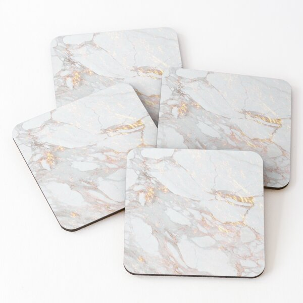 Rose Gold Marble Coasters (Set of 4)