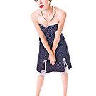 Polka Dot Dress Pinup by Jonathan Coe