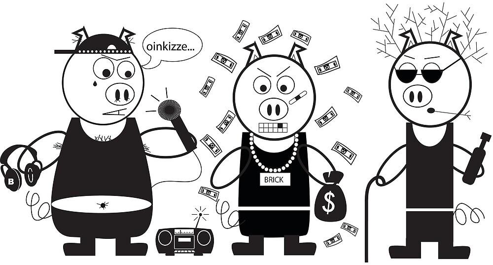 3 OG PIGS by Shelbyhernandez