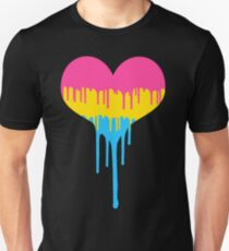 Pansexual Pride Drip Heart T-Shirt