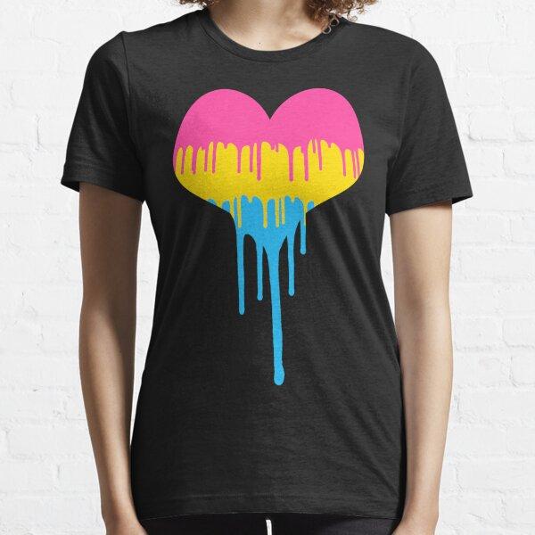 Pansexual Pride Drip Heart Essential T-Shirt