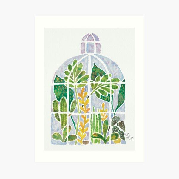 Watercolour Greenhouse Art Print