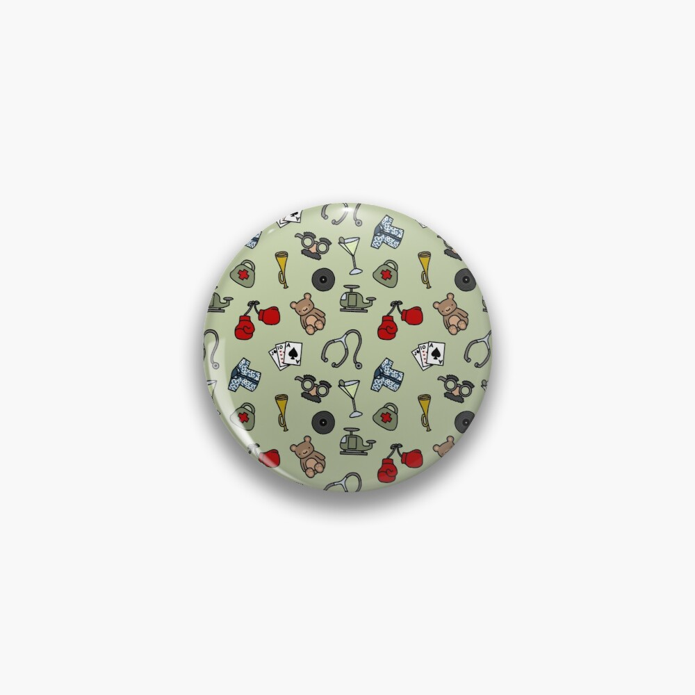 Martinis and Medicine Pin