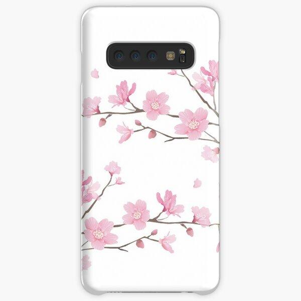 Flor de cerezo - fondo transparente Funda rígida para Samsung Galaxy