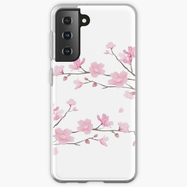 Cherry Blossom - Transparent Background Samsung Galaxy Soft Case