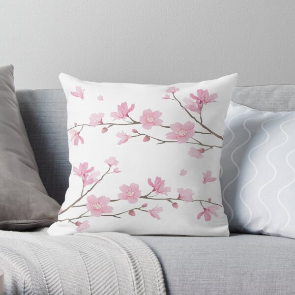 Fleur de cerisier - fond transparent Coussin
