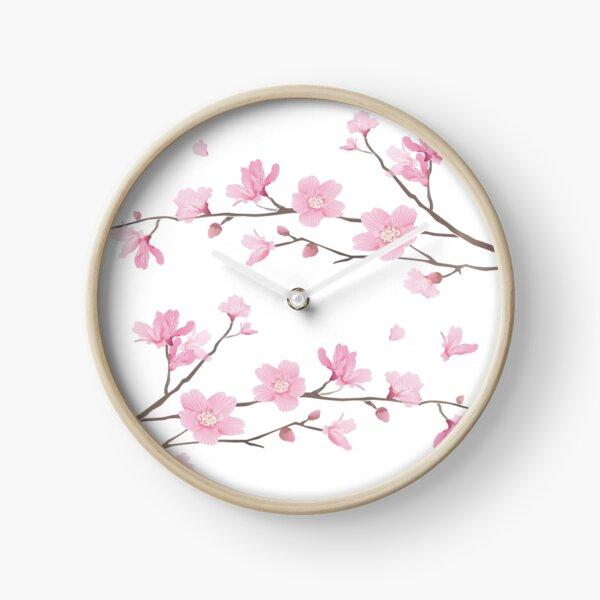 Cherry Blossom - Transparent Background Clock