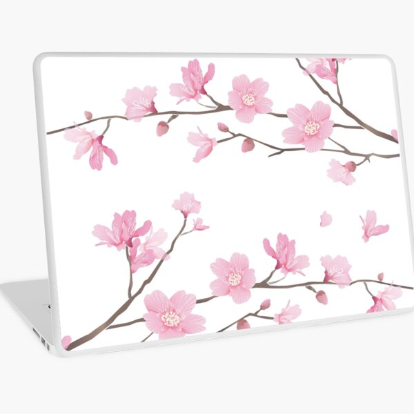 Cherry Blossom - Transparent Background Laptop Skin