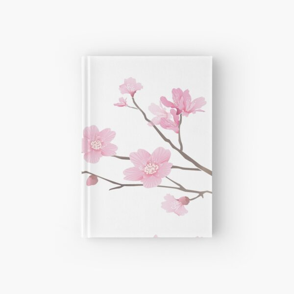 Cherry Blossom - Transparent Background Hardcover Journal