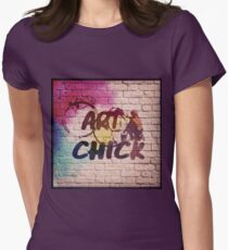 ART CHICK Womens Fitted T-Shirt