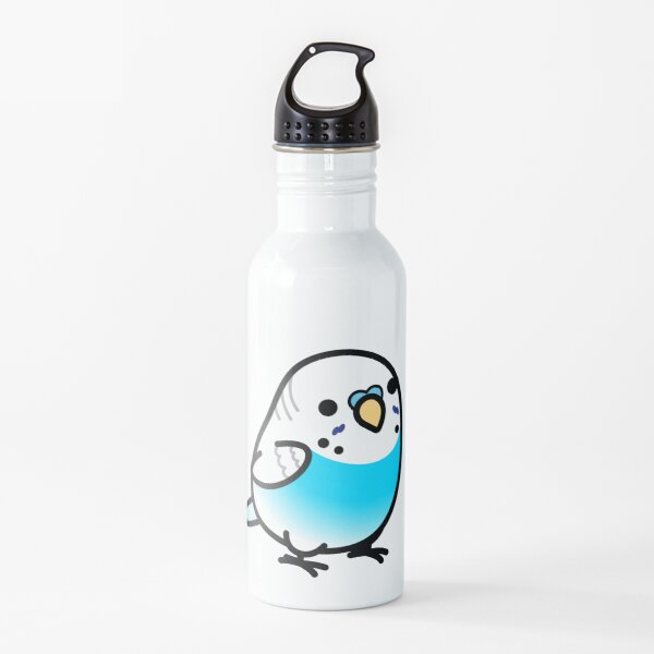 Chubby Dominant Pied Sky-blue Budgie - Male Water Bottle