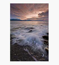 Kaikoura Fantail Wave Photographic Print