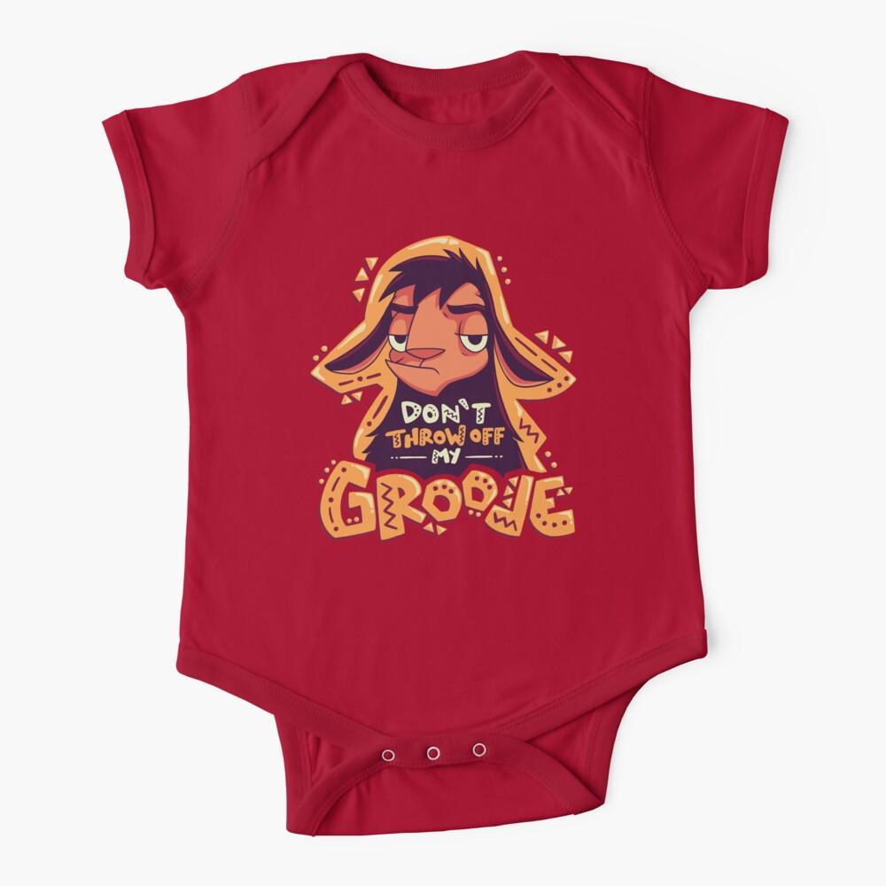 Dont Throw Off My Groove // Llama Kuzco, Cartoon Emperor, Alpaca Baby One-Piece
