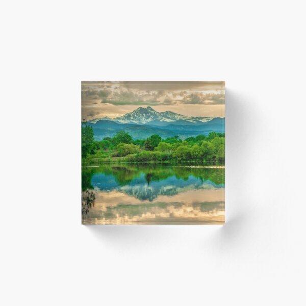 Golden Ponds Reflections  Acrylic Block