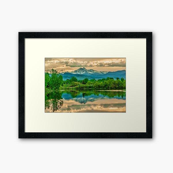 Golden Ponds Reflections  Framed Art Print