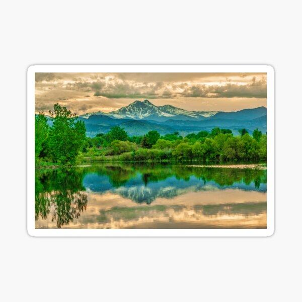 Golden Ponds Reflections  Sticker