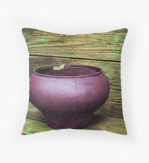 Pot Full of Quiet Throw Pillow