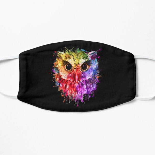 Owl Lovers Gift, Owl Colorful Mask, Cute Owl Face Mask Mask