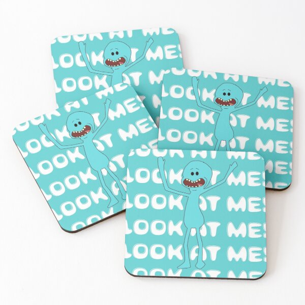 Mr meeseeks Look at me Coasters (Set of 4)