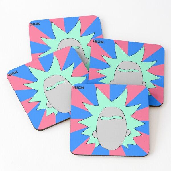 Rick minimal art Coasters (Set of 4)