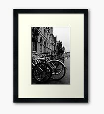 Broad Street, Oxford - Bicycles Framed Print