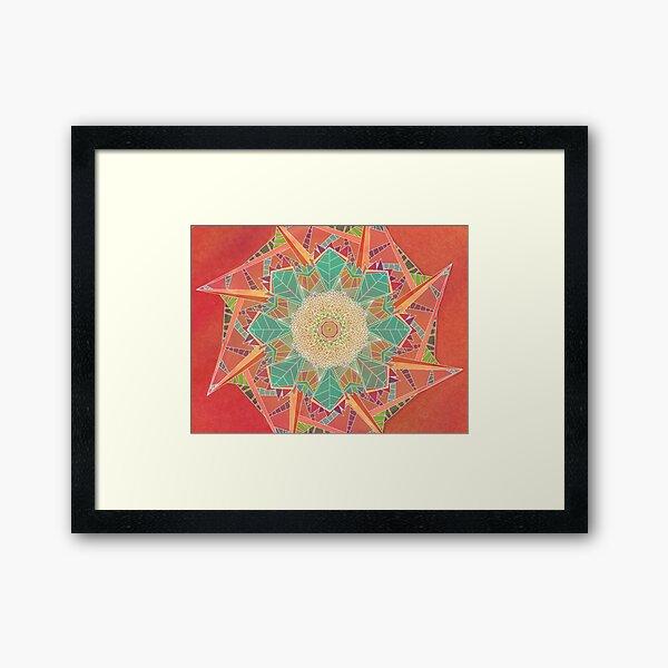 Symmetry in Rotation Framed Art Print