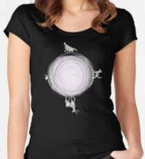 Inverted Marauders Moon Women's Fitted Scoop T-Shirt