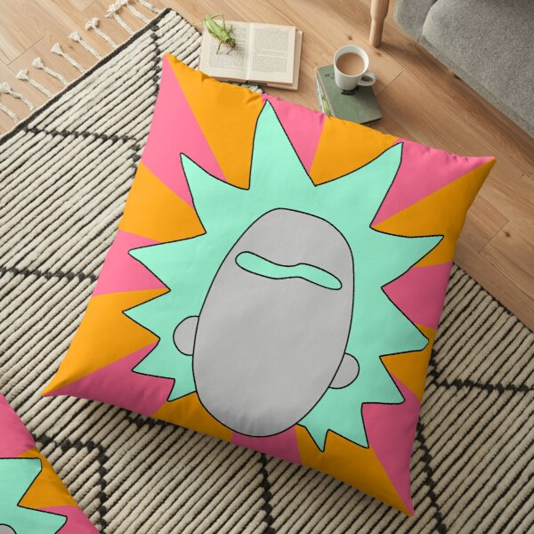Rick minimal art Floor Pillow