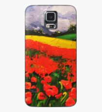 Poppies before the Storm Case/Skin for Samsung Galaxy