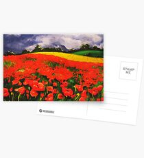 Poppies before the Storm Postcards