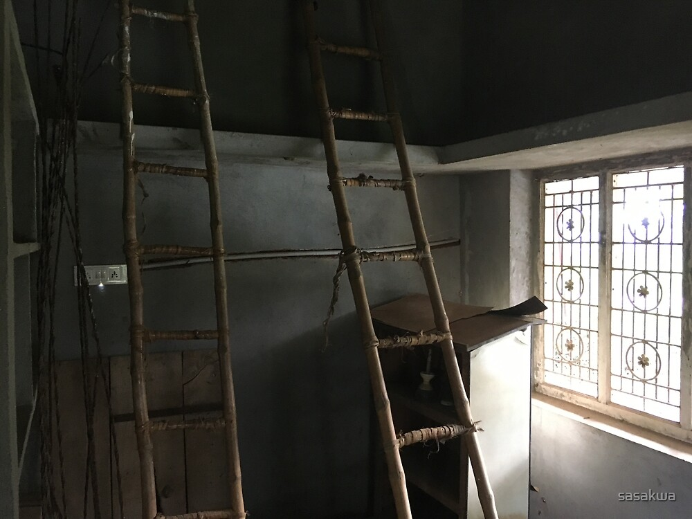 The store room with ladders by sasakwa