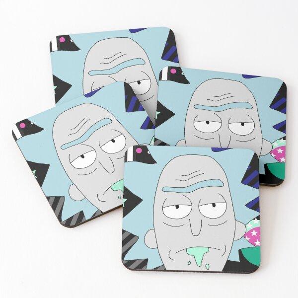 Rick Geometric art Coasters (Set of 4)