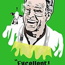 "Walter Bishop - ""Excellent! Let's make some LSD!"" Green iPhone Case by godgeeki"