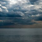Calm Sea, Brooding Sky by mikebov