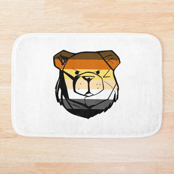 Robust Bear Flag Bath Mat